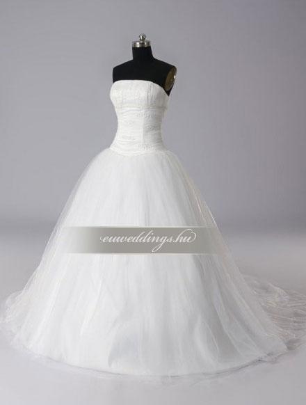Esküvői ruha báli fazonú ujjatlan-BFU-4838