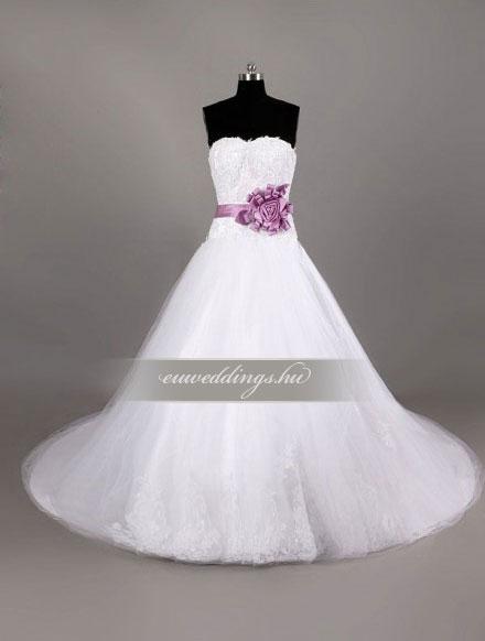 Esküvői ruha báli fazonú ujjatlan-BFU-4891
