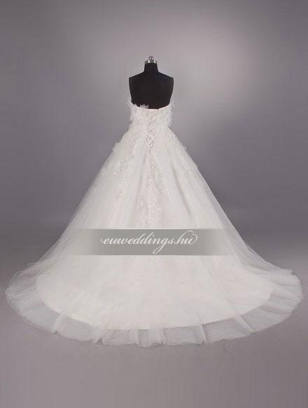 Esküvői ruha báli fazonú ujjatlan-BFU-4905
