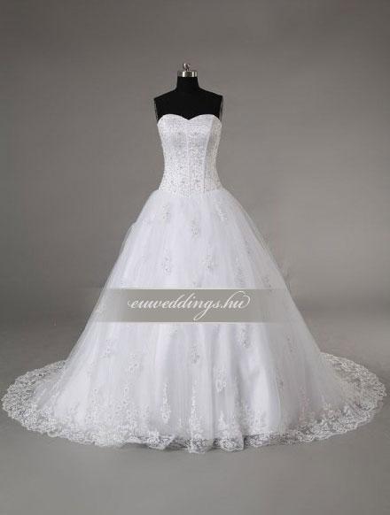 Esküvői ruha báli fazonú ujjatlan-BFU-5123