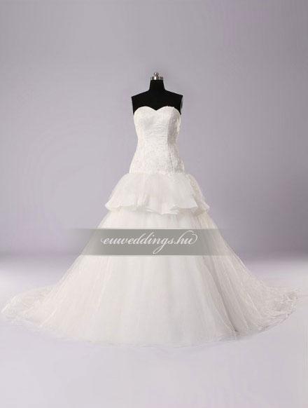 Esküvői ruha báli fazonú ujjatlan-BFU-5128