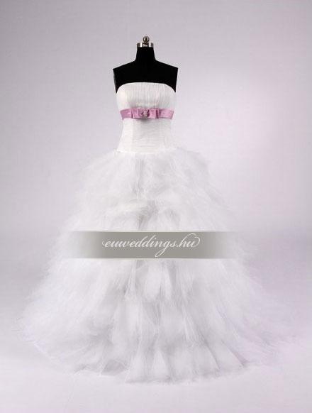 Esküvői ruha báli fazonú ujjatlan-BFU-5197