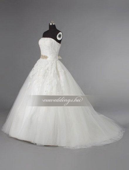 Esküvői ruha báli fazonú ujjatlan-BFU-5237