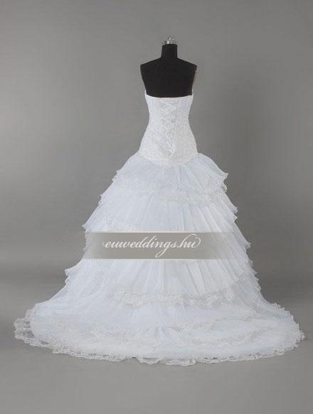 Esküvői ruha báli fazonú ujjatlan-BFU-5485