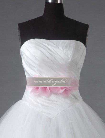 Esküvői ruha báli fazonú ujjatlan-BFU-5526