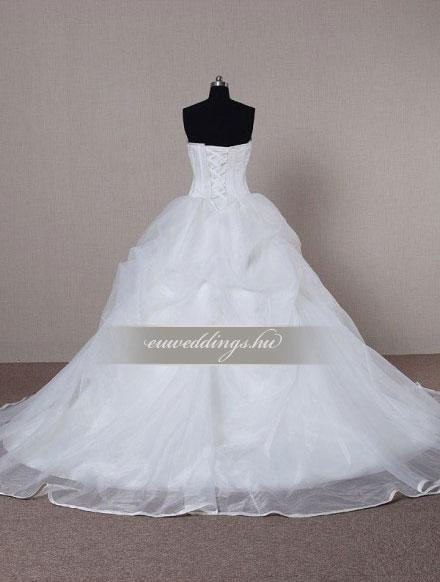 Esküvői ruha báli fazonú ujjatlan-BFU-5534