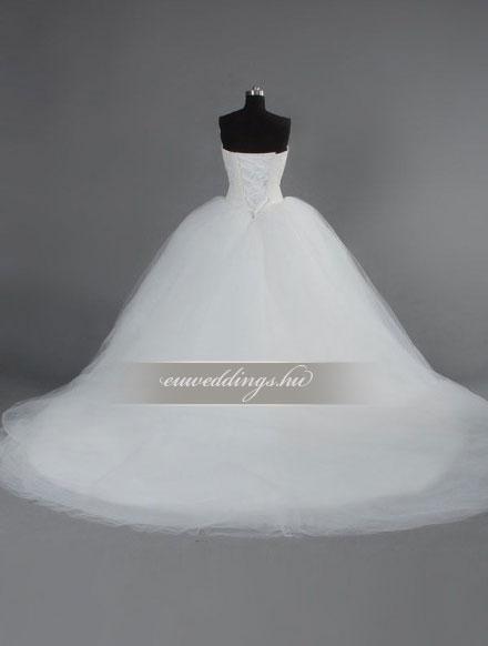 Esküvői ruha báli fazonú ujjatlan-BFU-5561