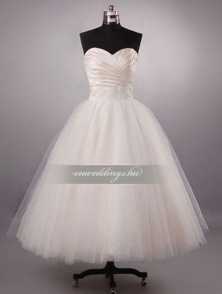 Esküvői ruha báli fazonú ujjatlan-BFU-5664