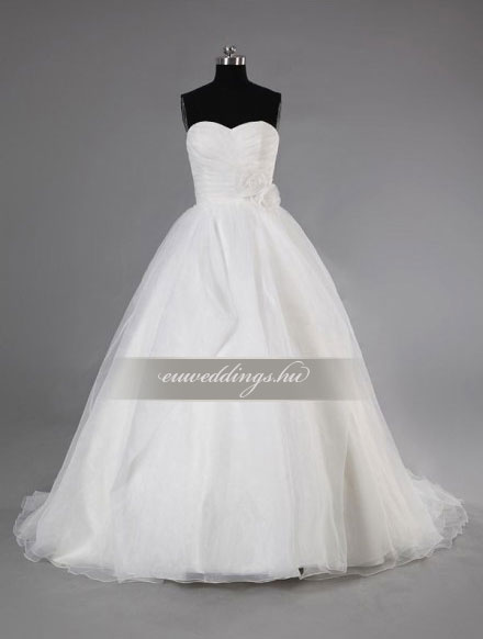 Esküvői ruha báli fazonú ujjatlan-BFU-5884