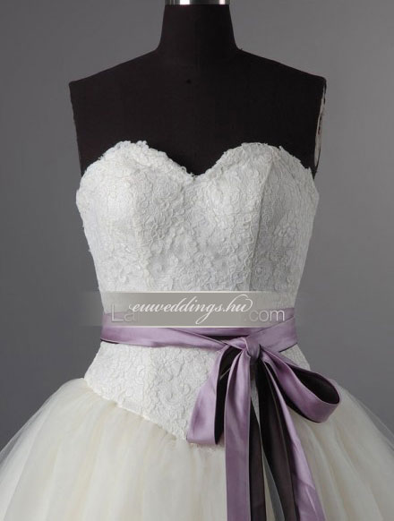 Esküvői ruha báli fazonú ujjatlan-BFU-6059