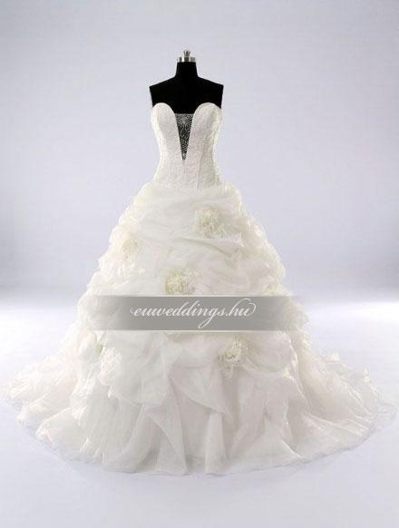 Esküvői ruha báli fazonú ujjatlan-BFU-6183