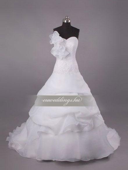 Esküvői ruha báli fazonú ujjatlan-BFU-6213