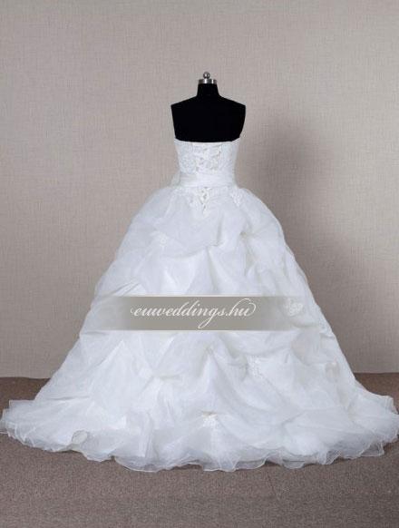 Esküvői ruha báli fazonú ujjatlan-BFU-6395