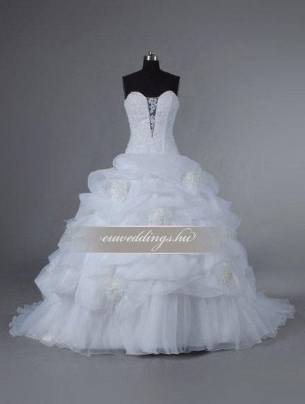 Esküvői ruha báli fazonú ujjatlan-BFU-6506