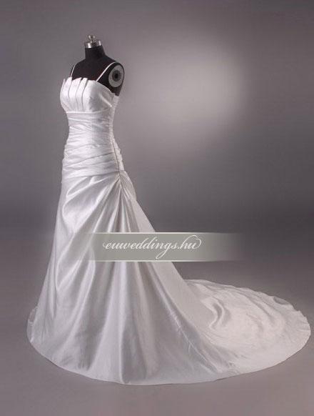 Menyasszonyi ruha csípőtől bővülő pántos-CBP-6625