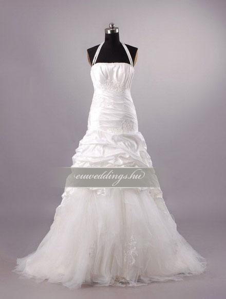Menyasszonyi ruha csípőtől bővülő pántos-CBP-6659