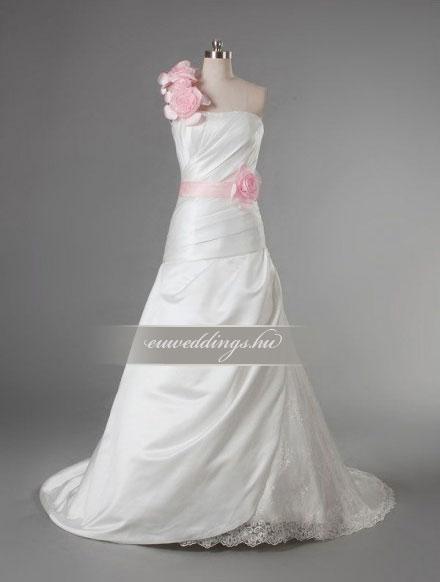 Menyasszonyi ruha csípőtől bővülő pántos-CBP-6673
