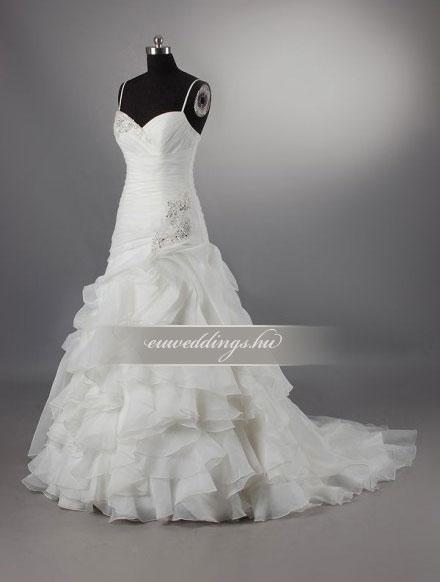 Menyasszonyi ruha csípőtől bővülő pántos-CBP-6692
