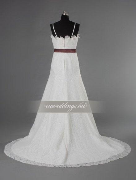 Menyasszonyi ruha csípőtől bővülő pántos-CBP-6712