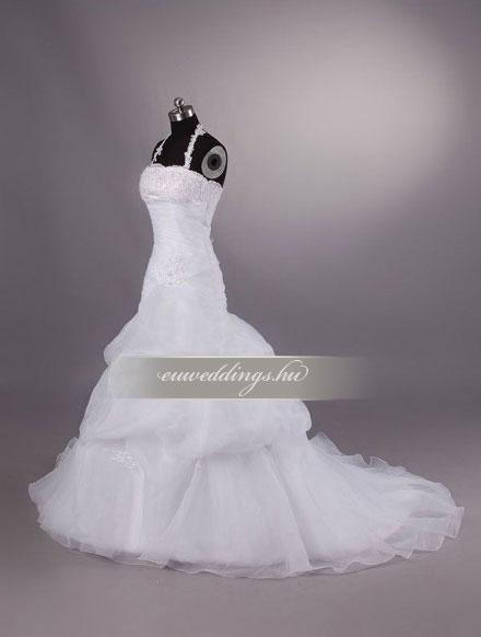 Menyasszonyi ruha csípőtől bővülő pántos-CBP-6885