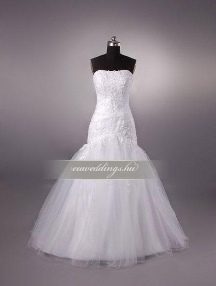 Esküvői ruha csípőtől bővülő ujjatlan-CBU-7140