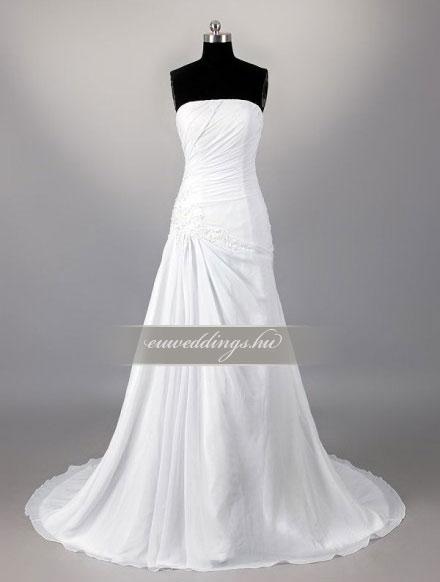 Esküvői ruha csípőtől bővülő ujjatlan-CBU-7160