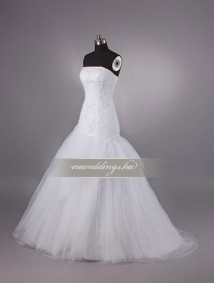 Esküvői ruha csípőtől bővülő ujjatlan-CBU-7165