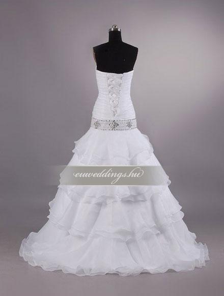 Esküvői ruha csípőtől bővülő ujjatlan-CBU-7190