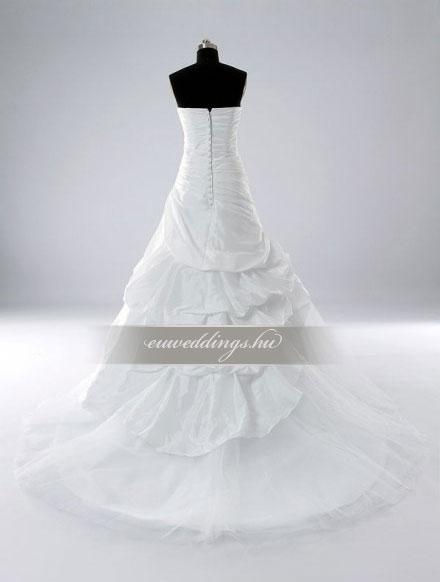 Esküvői ruha csípőtől bővülő ujjatlan-CBU-7199