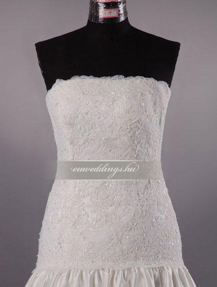 Esküvői ruha csípőtől bővülő ujjatlan-CBU-7214