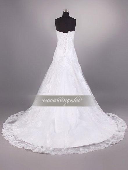 Esküvői ruha csípőtől bővülő ujjatlan-CBU-7244