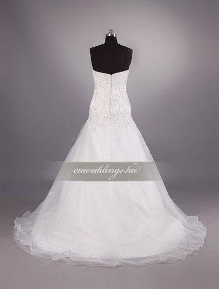 Esküvői ruha csípőtől bővülő ujjatlan-CBU-7254