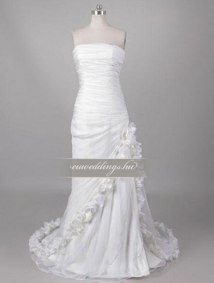 Esküvői ruha csípőtől bővülő ujjatlan-CBU-7269