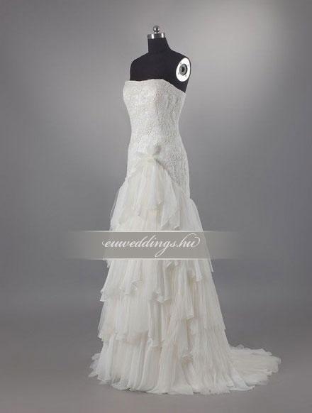 Esküvői ruha csípőtől bővülő ujjatlan-CBU-7284