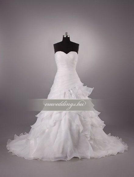 Esküvői ruha csípőtől bővülő ujjatlan-CBU-7345