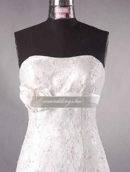 Esküvői ruha csípőtől bővülő ujjatlan-CBU-7413