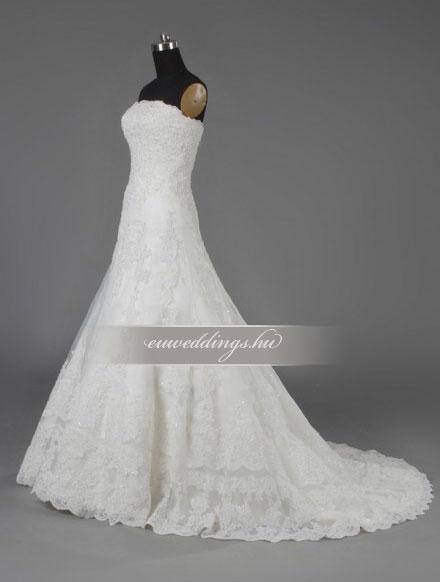 Esküvői ruha csípőtől bővülő ujjatlan-CBU-7428
