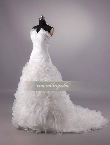Esküvői ruha csípőtől bővülő ujjatlan-CBU-7498