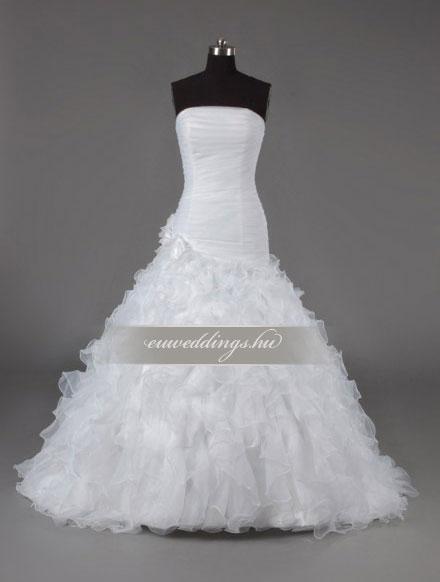 Esküvői ruha csípőtől bővülő ujjatlan-CBU-7513