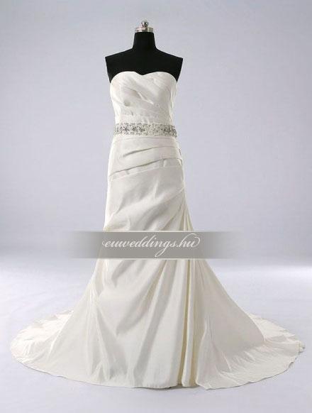 Esküvői ruha csípőtől bővülő ujjatlan-CBU-7609