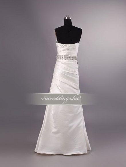 Esküvői ruha csípőtől bővülő ujjatlan-CBU-7712