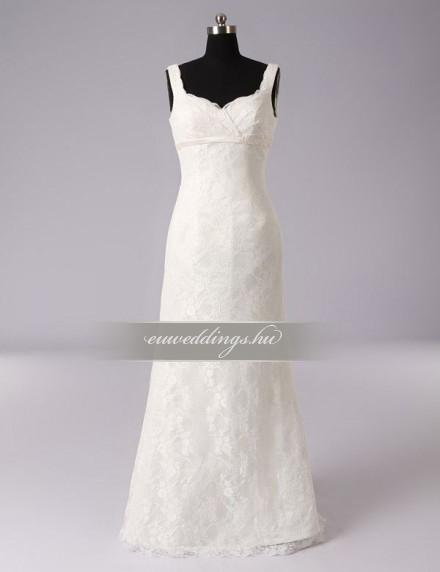 Egyenes fazonú menyasszonyi ruha