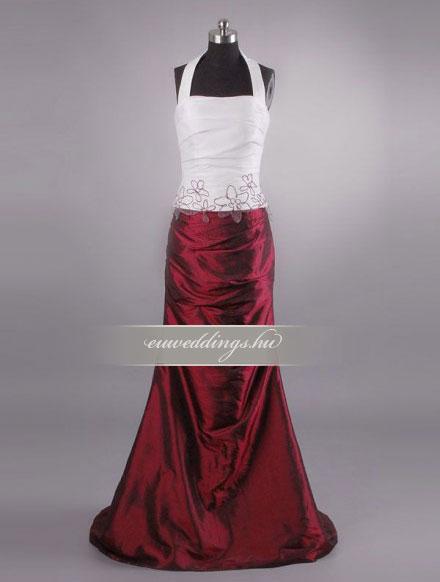 Menyasszonyi ruha egyenes fazonú mintás és színes-EFH-7818