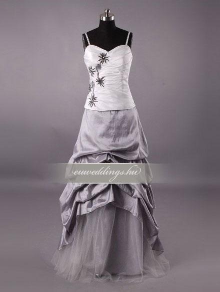 Menyasszonyi ruha egyenes fazonú mintás és színes-EFH-7833
