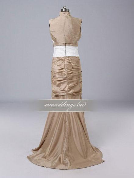 Menyasszonyi ruha egyenes fazonú mintás és színes-EFH-7848