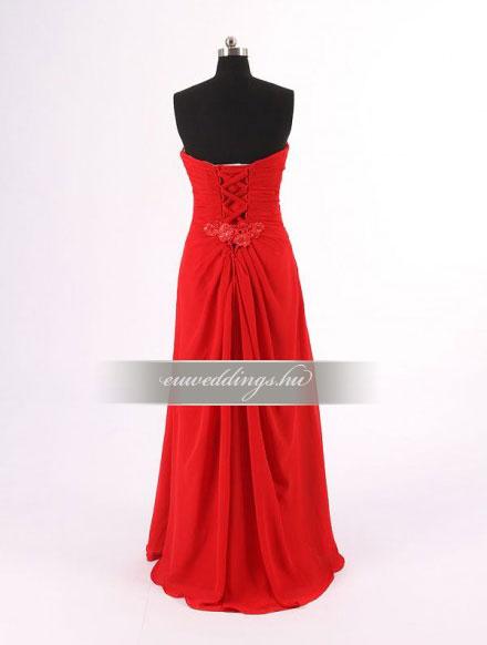 Menyasszonyi ruha egyenes fazonú mintás és színes-EFH-7872