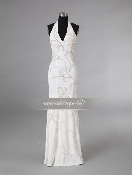 Esküvői ruha egyenes fazonú pántos-EFP-7995