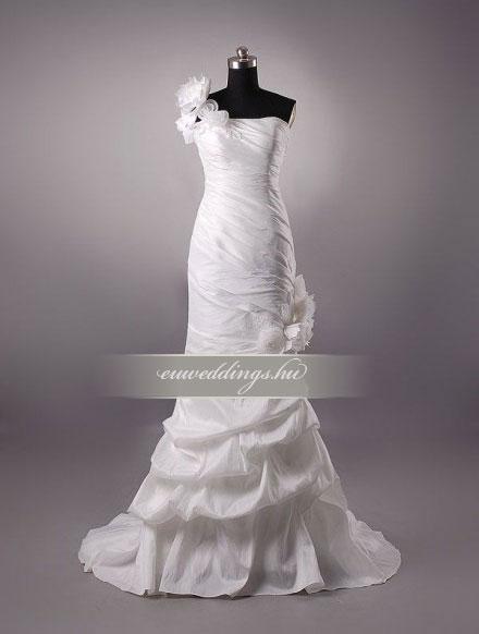 Esküvői ruha egyenes fazonú pántos-EFP-7999