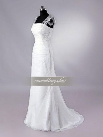 Esküvői ruha egyenes fazonú pántos-EFP-8023