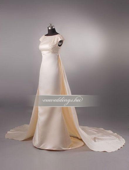 Esküvői ruha egyenes fazonú pántos-EFP-8042